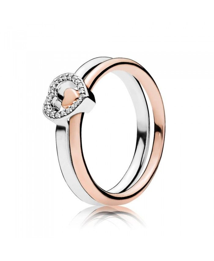 170218f96b2ab Pandora Puzzle Heart Ring UK Stack | Pandora. | Pandora rings rose ...