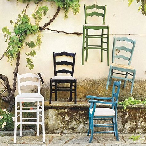 Casa Florentina Genoa Side Chairs with Rush Seat - Set of ...