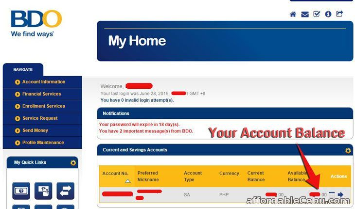 How To Check Account Balance Of Bdo Kabayan Savings Online With