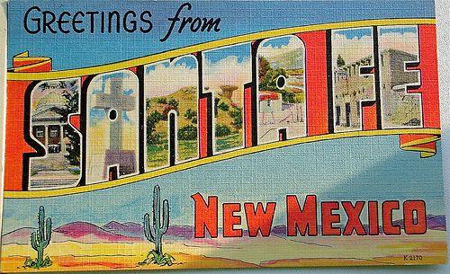 santa fe new mexico post card