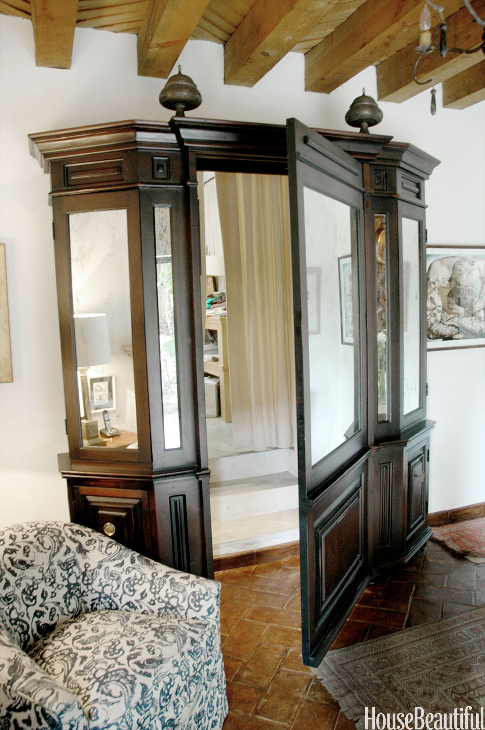 Hidden Door To In The Middle Of What Looks Like Armoire
