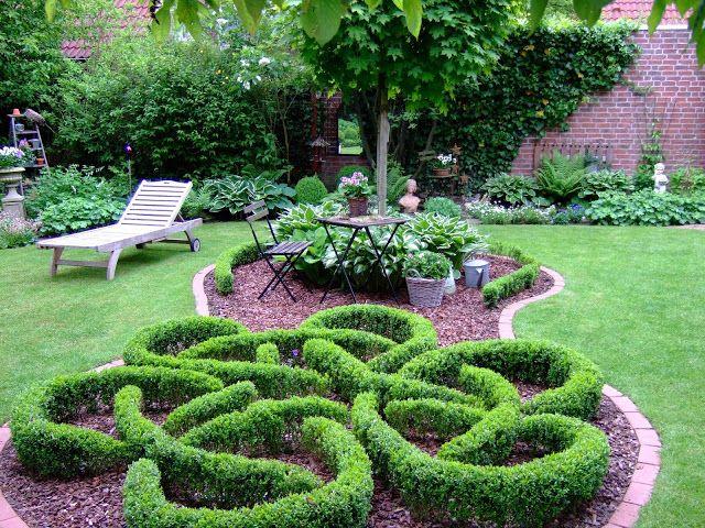 Gartenbuddelei Knotengarten Garten Gartenbuddelei Gartendekoration