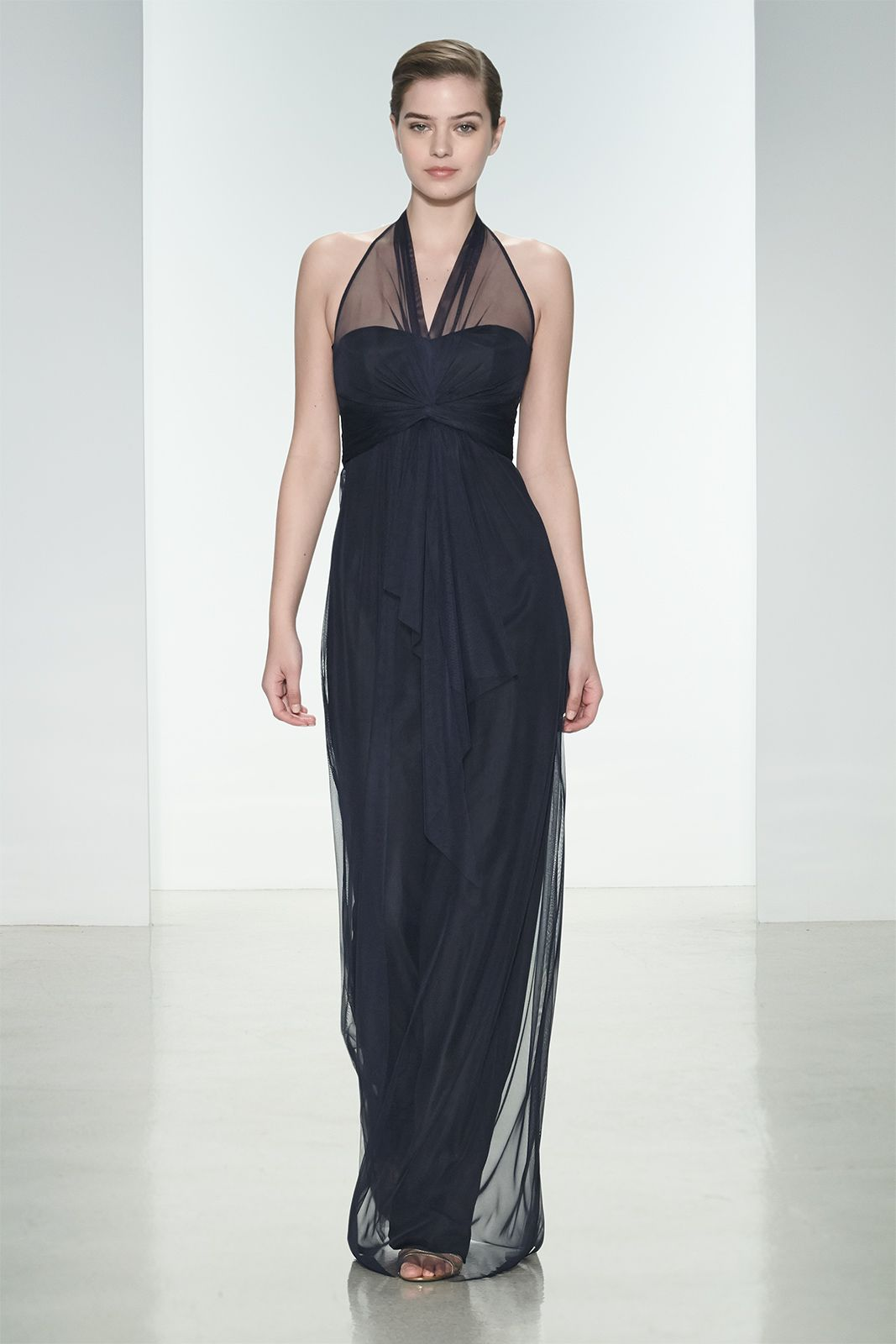 Amsale g857u long bridesmaid dress in navy tulle spring 2015 amsale g857u long bridesmaid dress in navy tulle ombrellifo Choice Image
