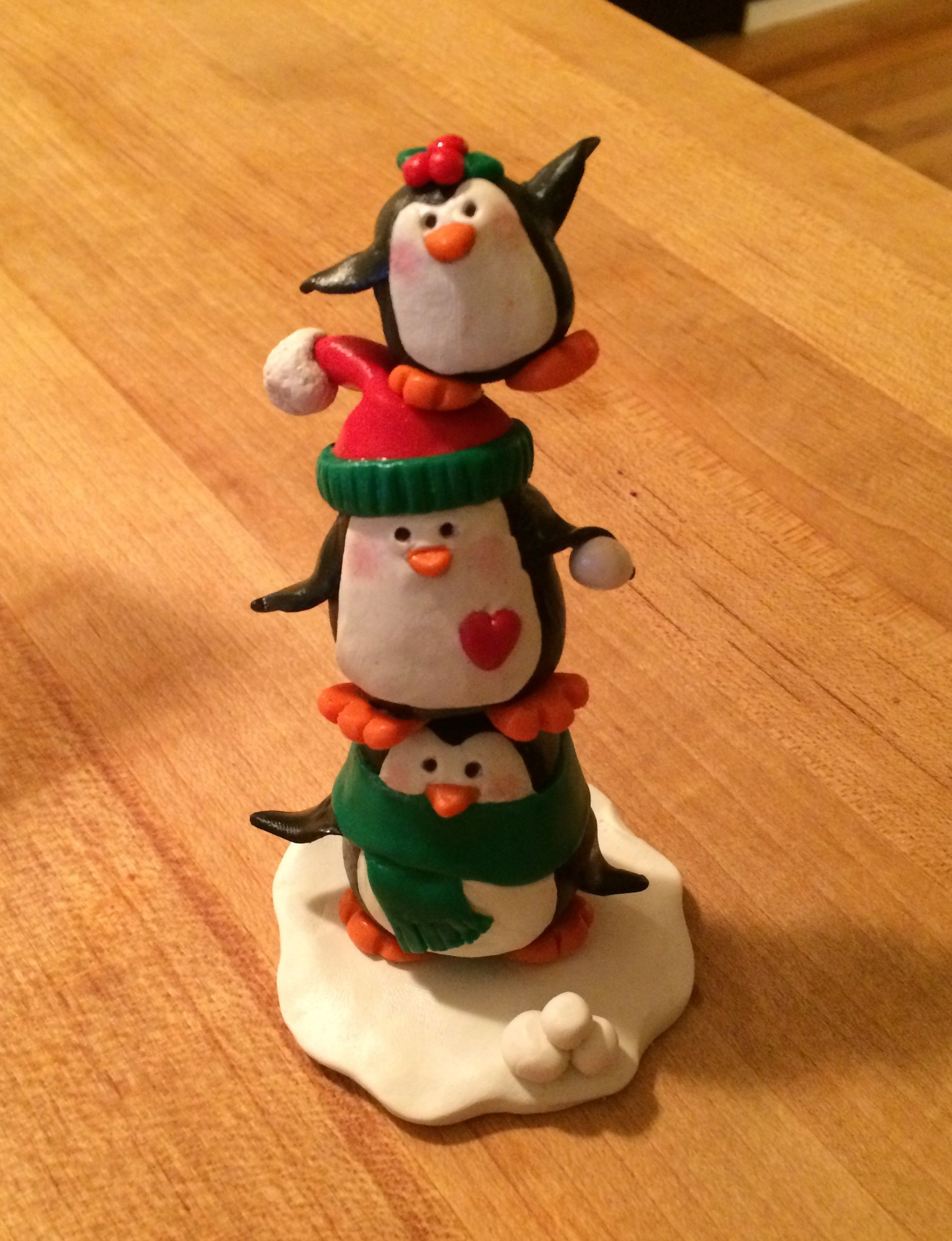 polymer clay penguin pile (created by Kelly Bouchard)
