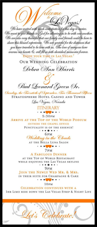 wedding itinerary las vegas event itinerary by idoartsyweddings