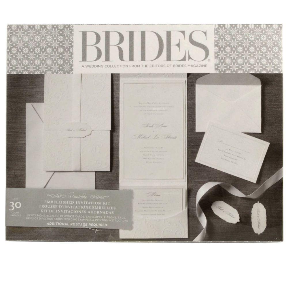 Brides Wedding Invitation Kit: Brides® Premium White Invitation Kit