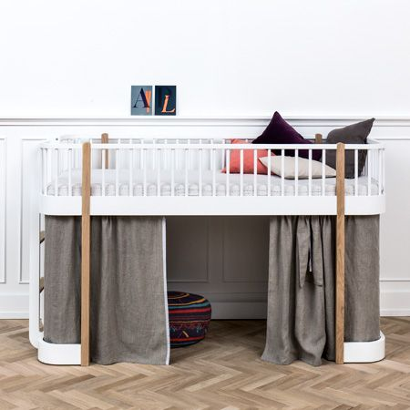 Wood Low Loftbed In Nordic Style With An Aesthetic