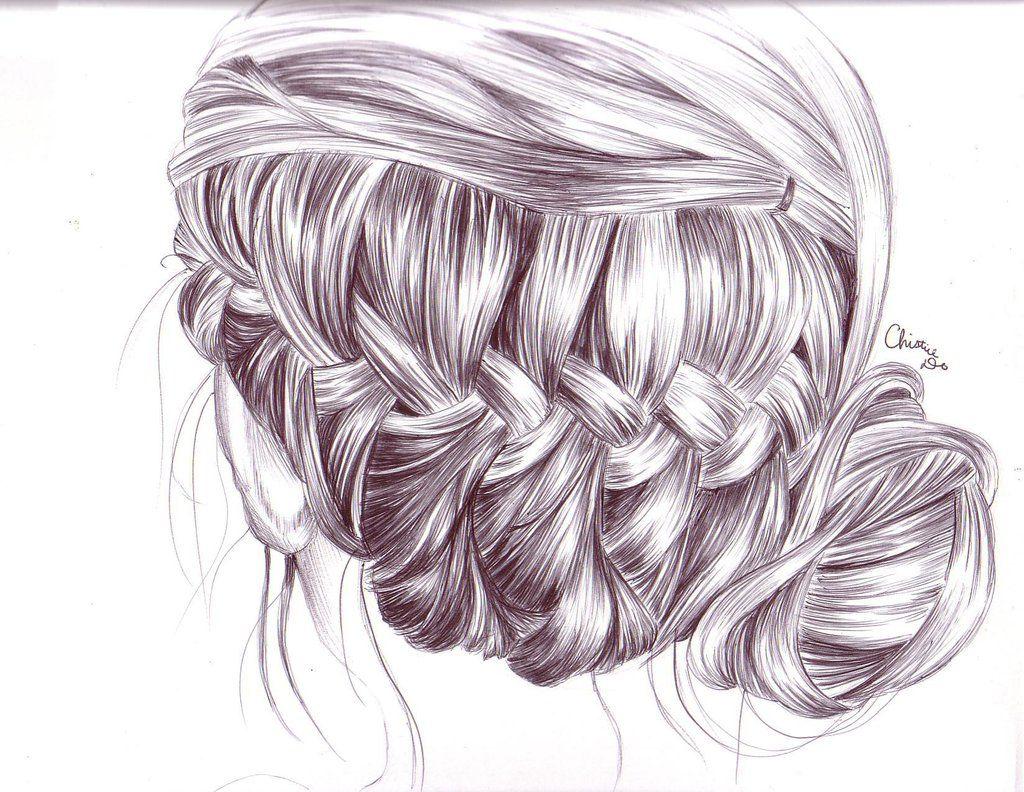 Braids Hairstyles Tumblr Tumblr Sketches Hair Braid Drawing Drawing Pinterest Hr