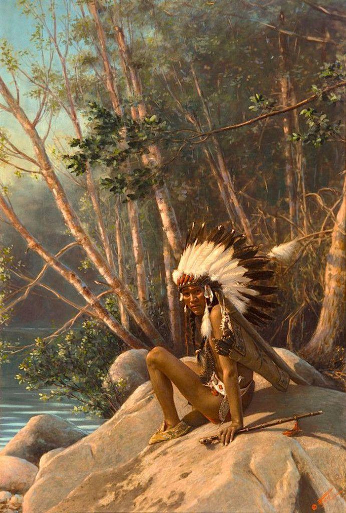 Редкие цветные фотографии коренных американцев 19-х и 20-х веков