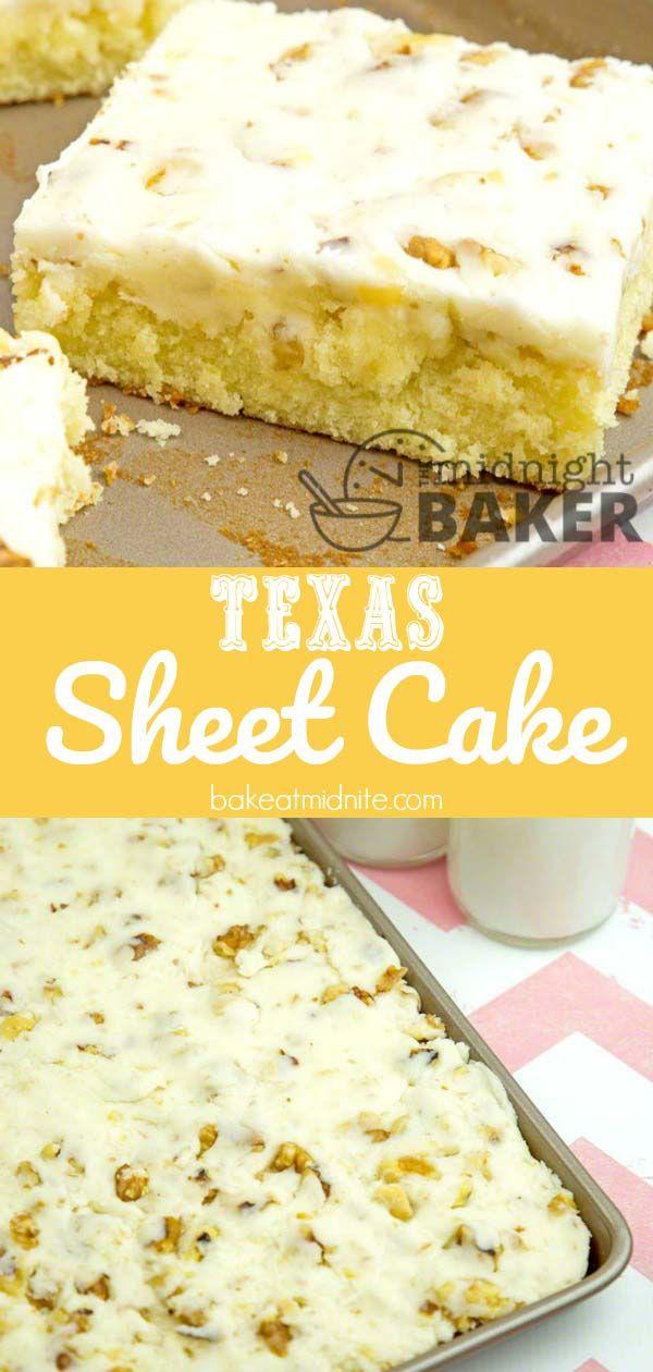 Texas Sheet Cake - The Midnight Baker
