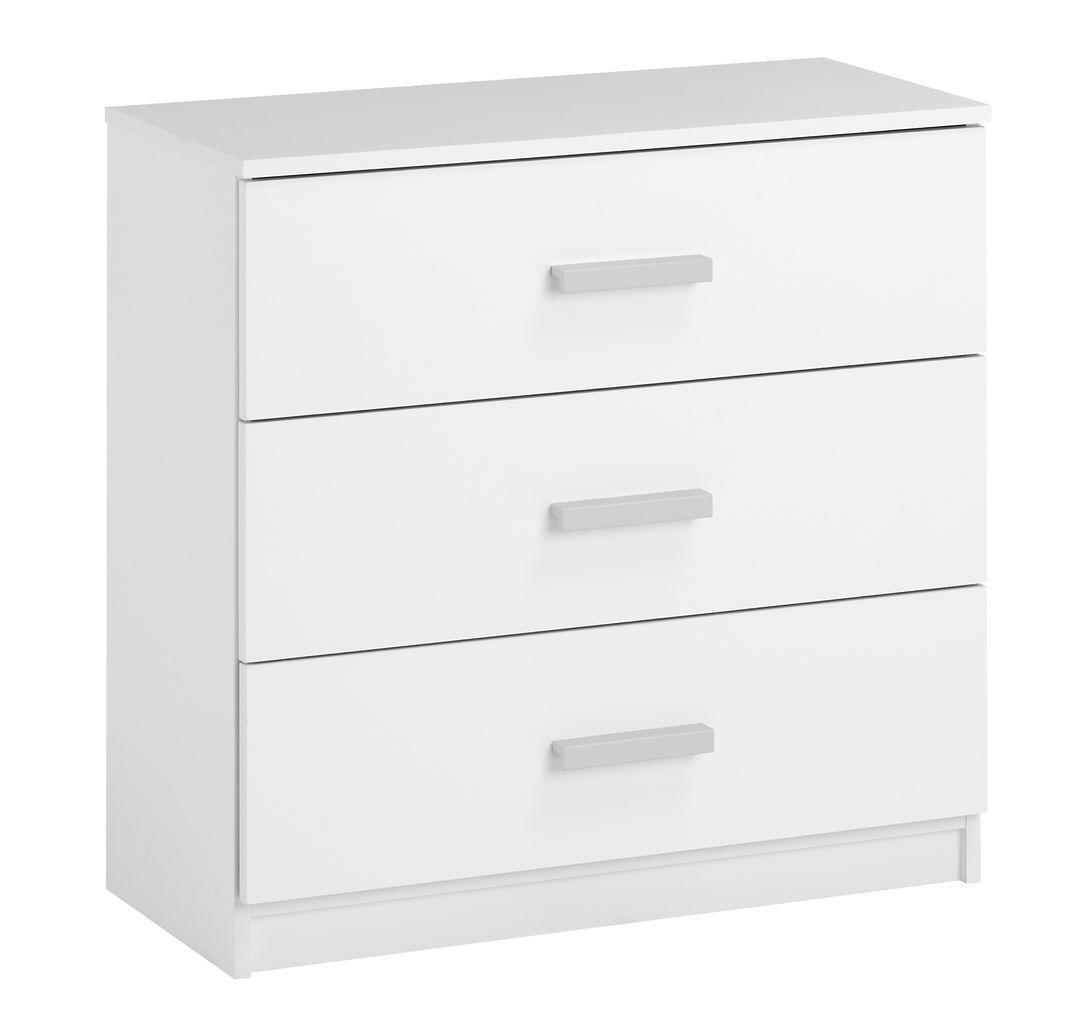 Lipasto KABDRUP 3 laatikkoa valkoinen   JYSK
