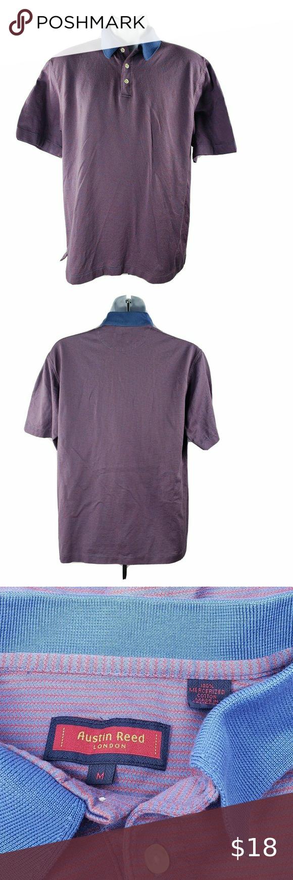 Austin Reed London Polo Golf Shirt M Stripes Golf Shirts Austin Reed Clothes Design