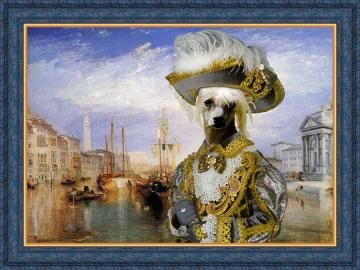 Chinese Crested Dog Fine Art Canvas Print by NobilityDogs for $42.90