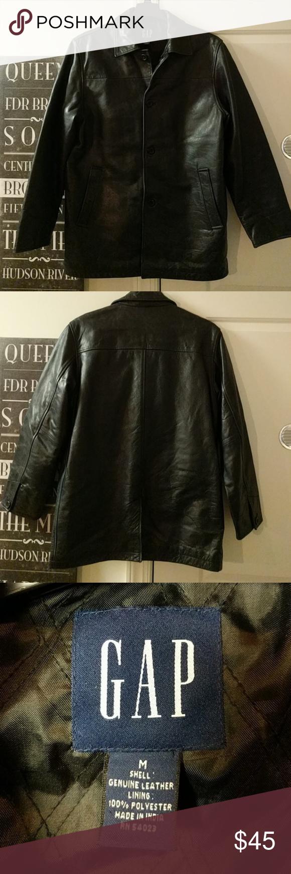 Vintage Gap Mens Leather Coat Mens Leather Coats Leather Coat Leather Men [ 1740 x 580 Pixel ]