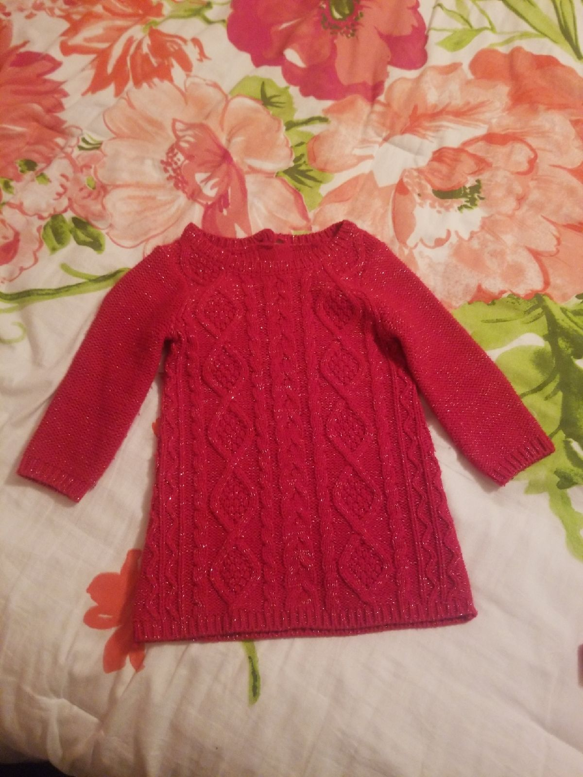 Photo of sweater dress, size 6-12 months