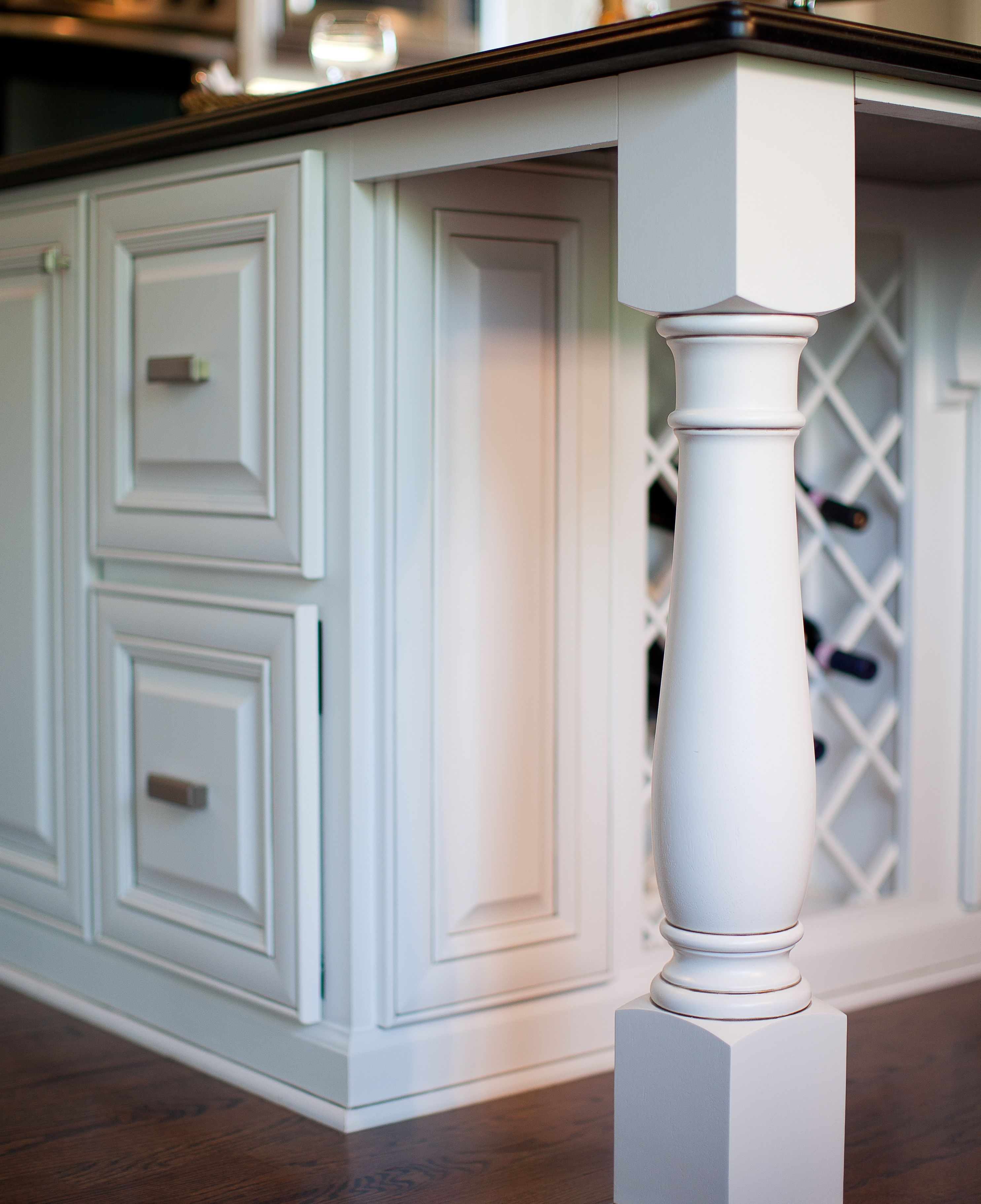 Posted Legs & Wine Rack Customize this island | Kitchen Makeover ...