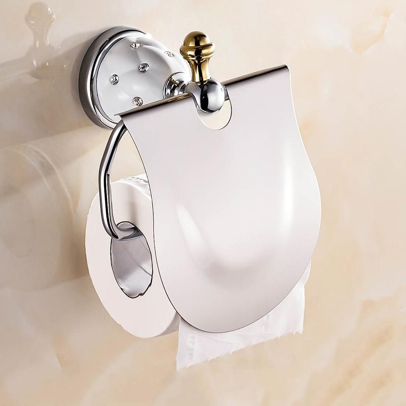 Europe Crystal Tissue Holder Roll Holder Solid Brass Antique Chrome Toilet Paper Holder Stone Bathroom Accessories Products Ojk Brass Bathroom Accessories Bathroom Accessories Solid Brass