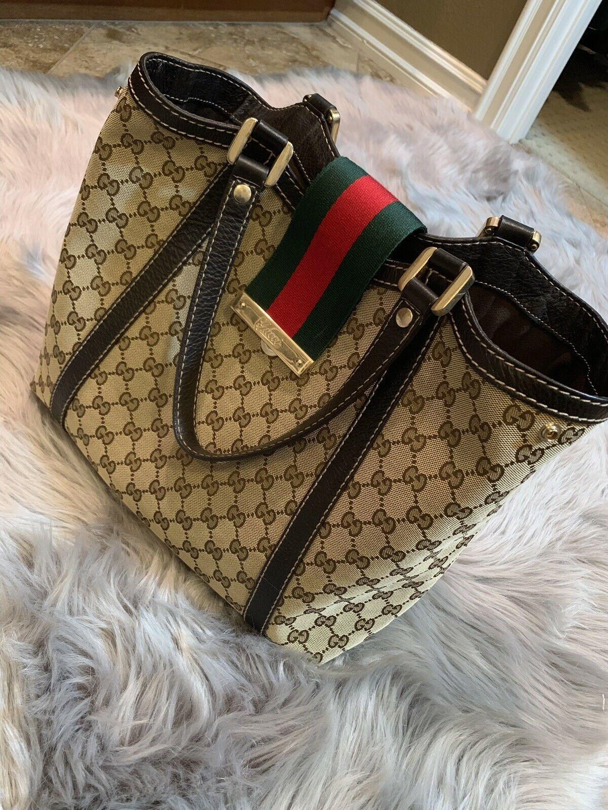 a54321b4924 Details about Authentic Vintage GUCCI Web Crossbody Shoulder Bag ...