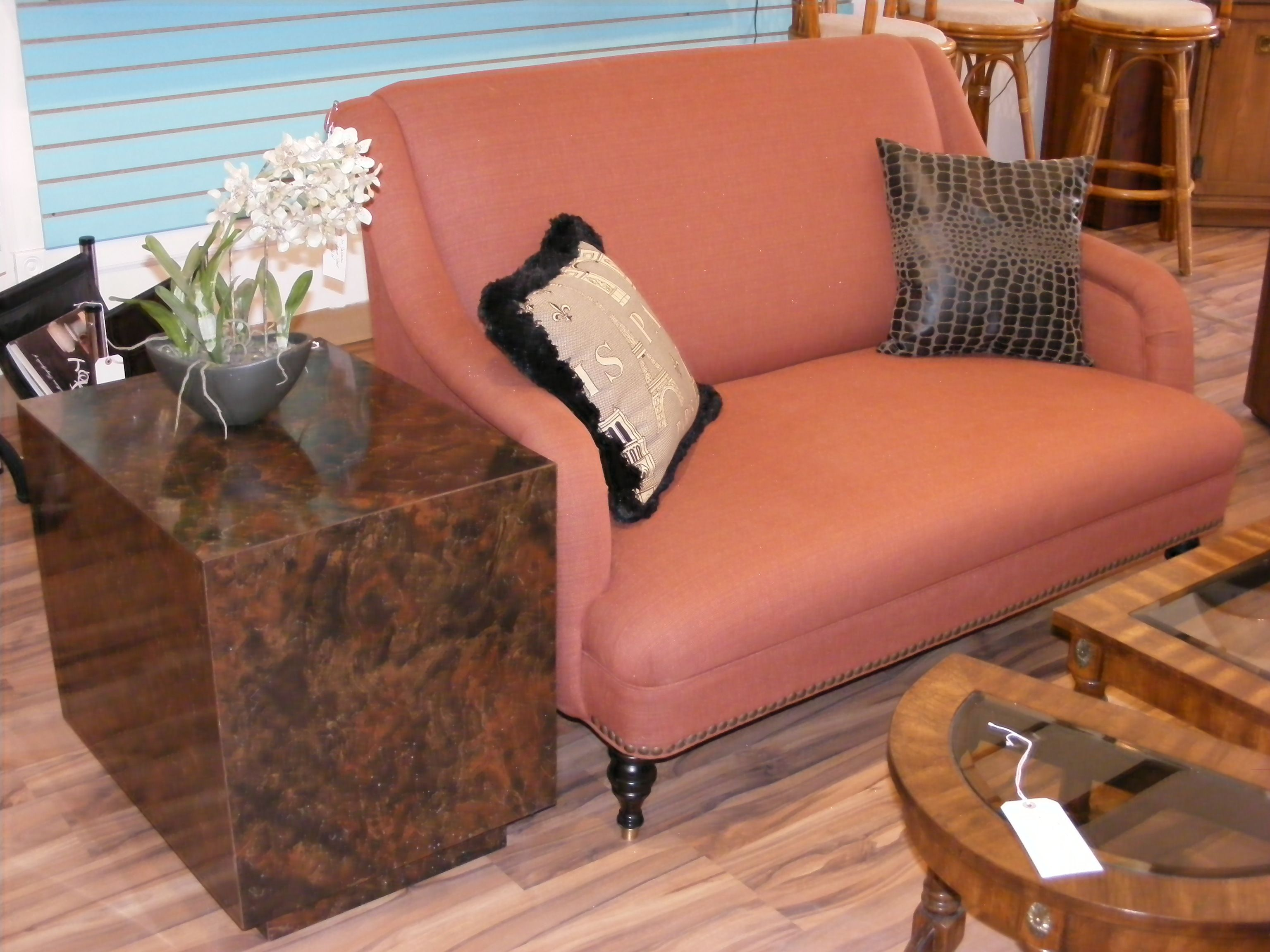 Gentil Vintage Furniture · Sassy In Salmon Sofette~! By Mitchell Gold U2014 At Retro  Kalamazoo.