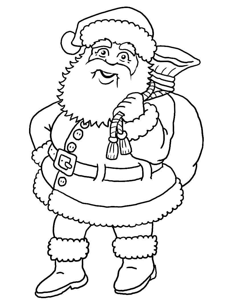 printable blank santa claus Free
