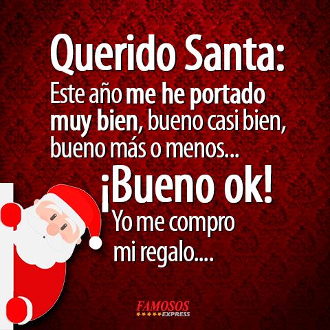 Querido Santa Frases Navideñas Feliz Navidad Mensajes Y