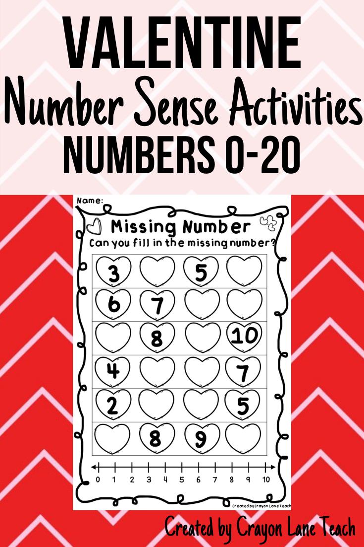 Valentine Number Sense Activities Numbers 0 20 Number Sense Activities Number Sense Kinder Math Centers [ 1102 x 735 Pixel ]