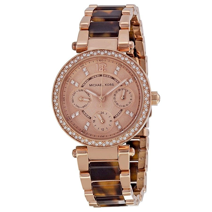 7b092efb31c1 Michael Kors Multi-Function Rose Dial Rose Gold-tone and Tortoise-shell  Ladies Watch MK5841 - Tortoise - Michael Kors - Shop Watches by Brand -  Jomashop