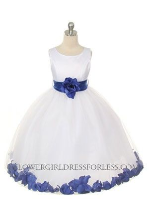 0b7bbc005 Flower Girl Dress Style 152-Choice of White or Ivory Dress with ...