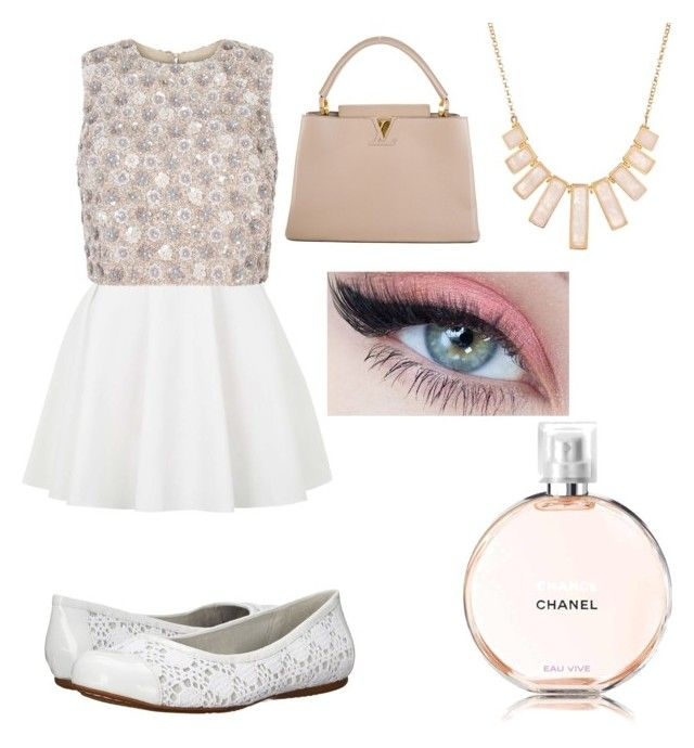 """ballerina"" by shellandciara on Polyvore featuring Rivka Friedman, Topshop, SoftWalk and Louis Vuitton"
