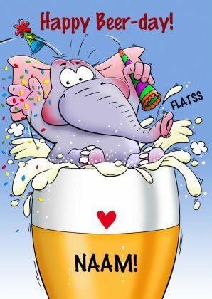 gefeliciteerd bierglas