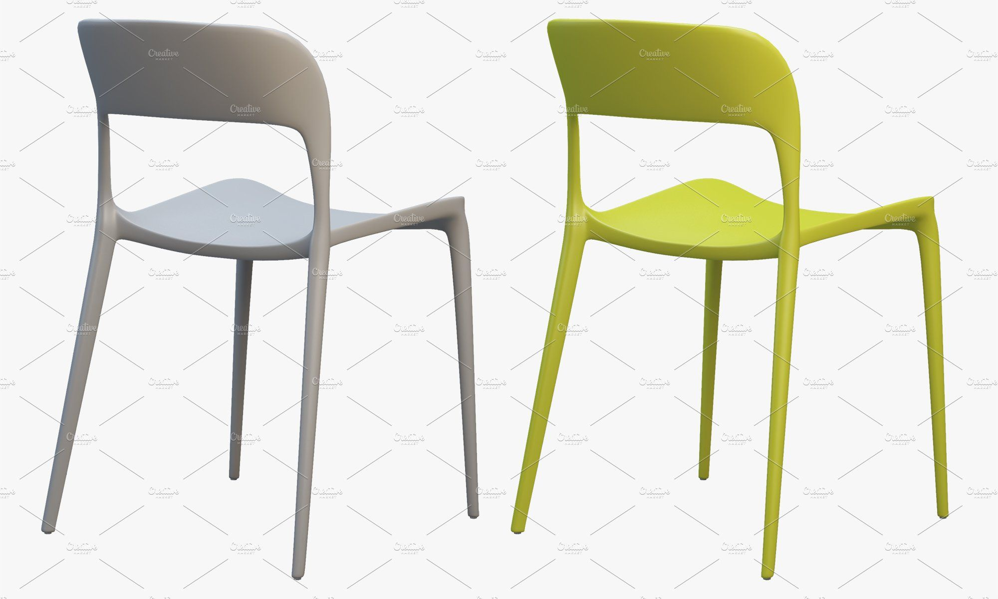 Bontempi Gipsy Dining Chair 3d Model Dining Chairs