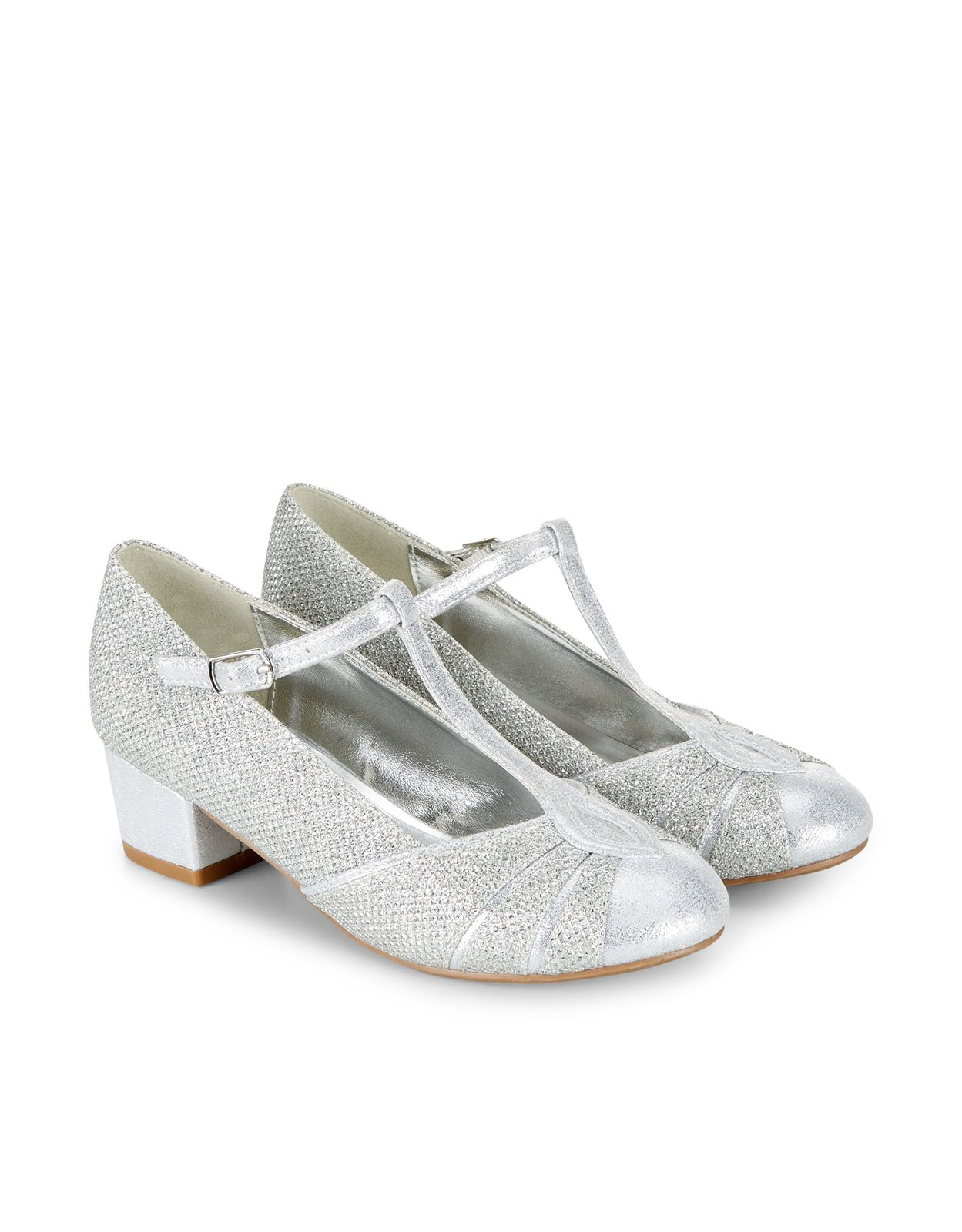 cf719f47b61 Perfect party outfits with these sparkly T-bar shoes for girls ...
