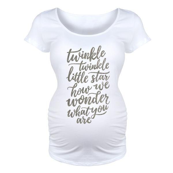 fca2866769bd7 Twinkle Twinkle Little Star Maternity Tee | baby | Baby gender ...