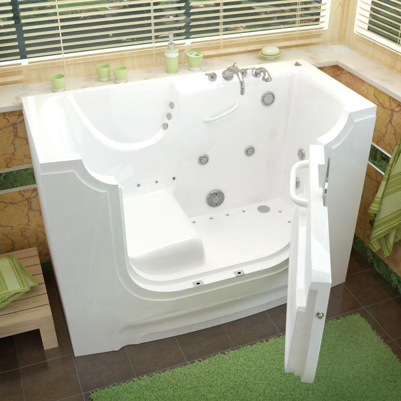 Avano Av3060wcard Wheelchair Accessible Tubs 60 Gel Coated Air Whirlpool Bath White Tub Air Whirlpool Alcove Walk In Tubs Roman Tub Faucets Bathtub