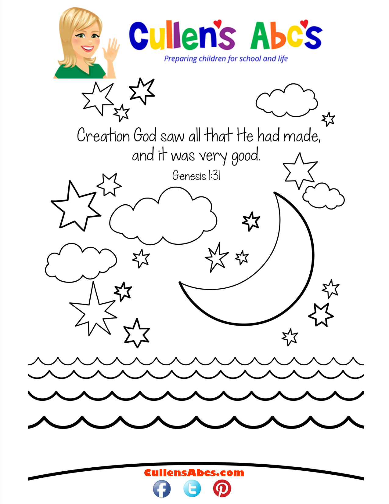 Creation Bible Verse For Preschoolers Click For A Free