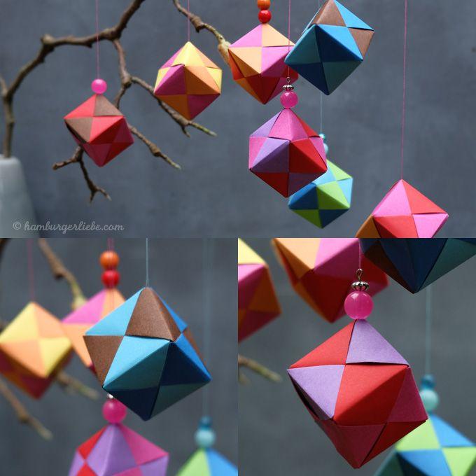 Tutorial Tuesday: heute mal am Mittwoch... Papierwürfel falten und das Novembergrau vertreiben #textiledesign
