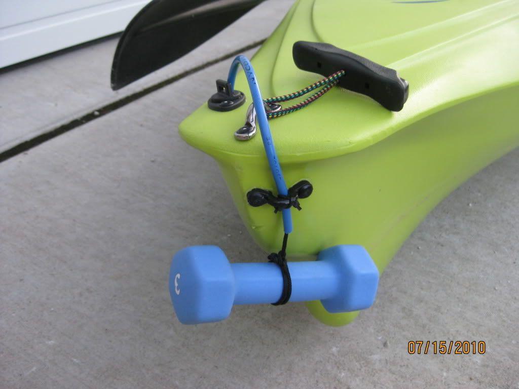 Simple kayak anchor kayak pinterest kayak anchor for Fishing kayak anchor