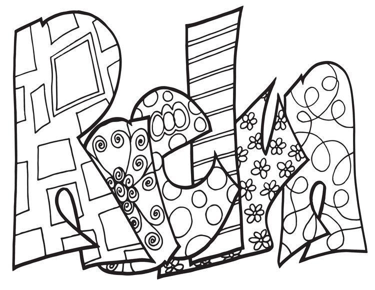 Raelyn Custom Stevie Doodle Free Printable Coloring Page Stevie Doodles Name Coloring Pages Free Printable Coloring Pages Coloring Pages