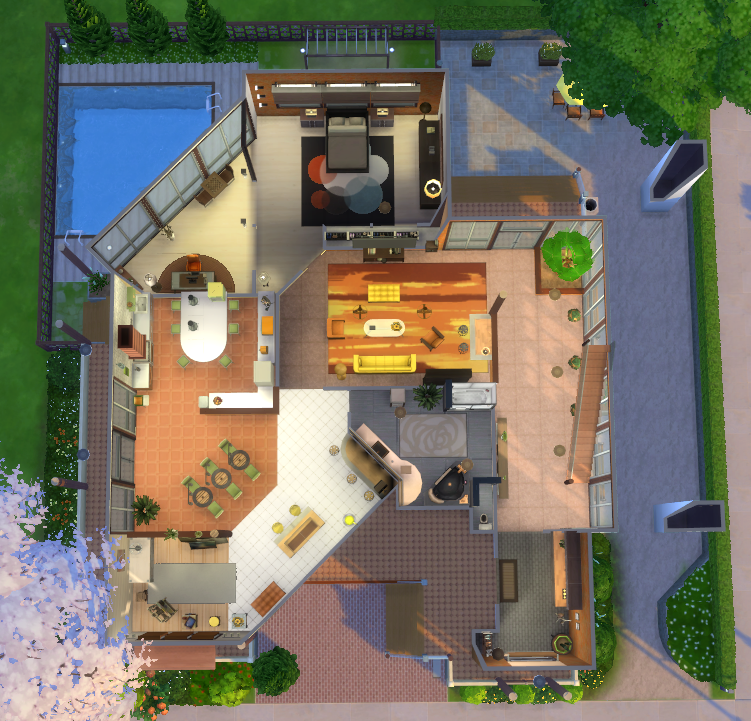 Wondercarlotta Sims 4 Family Home Fleuve Tranquille This House Is No Sims 4 House Design Sims 4 Family House Sims House Plans