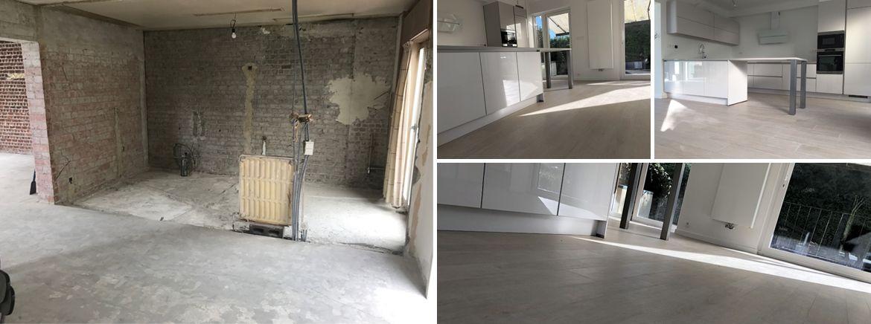 Mise en oeuvre du0027une pré-chape dans une maison Rénovation