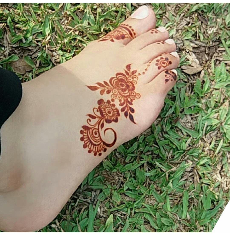 Foot Henna Designs: Foot Henna♀️Mehndi♀️♀️HennaMore Pins Like This At