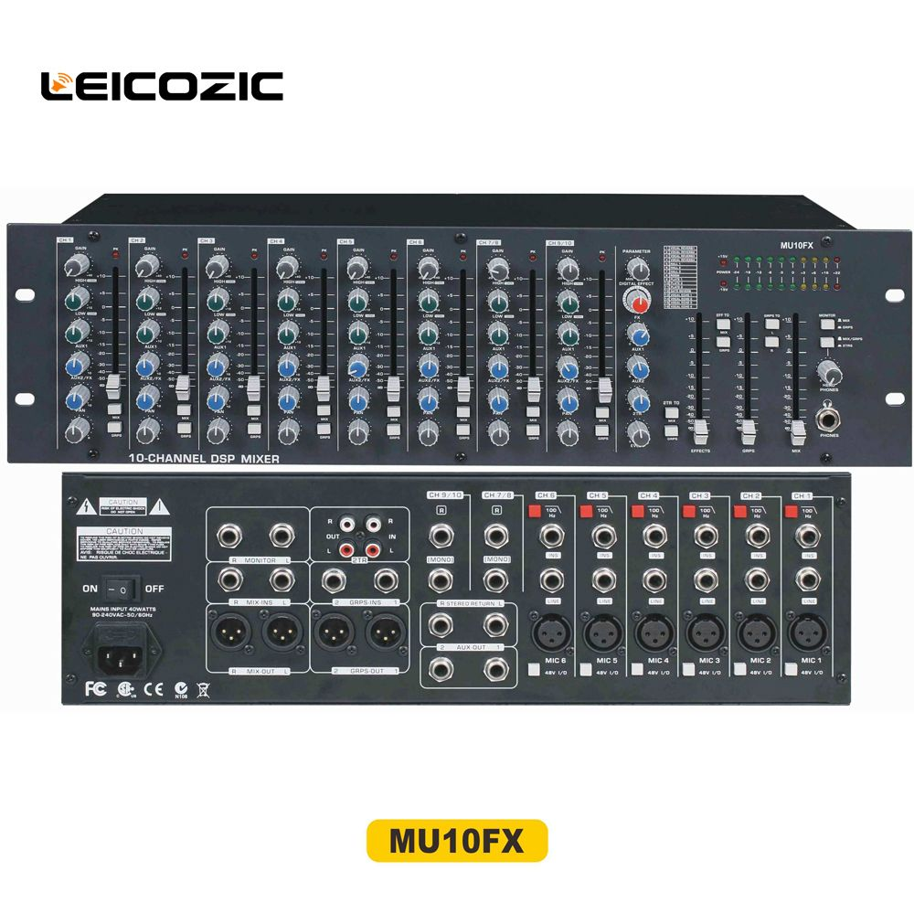 Leicozic Professional Sound Audio Mixer Mu10fx Professional Sound