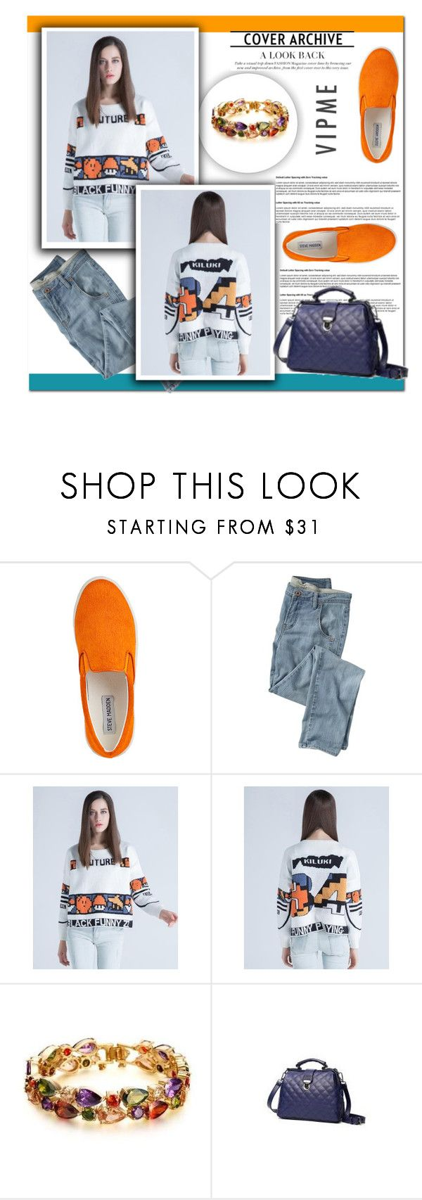 """Vipme #9"" by cherry-bh ❤ liked on Polyvore featuring Steve Madden, Wrap and vipme"