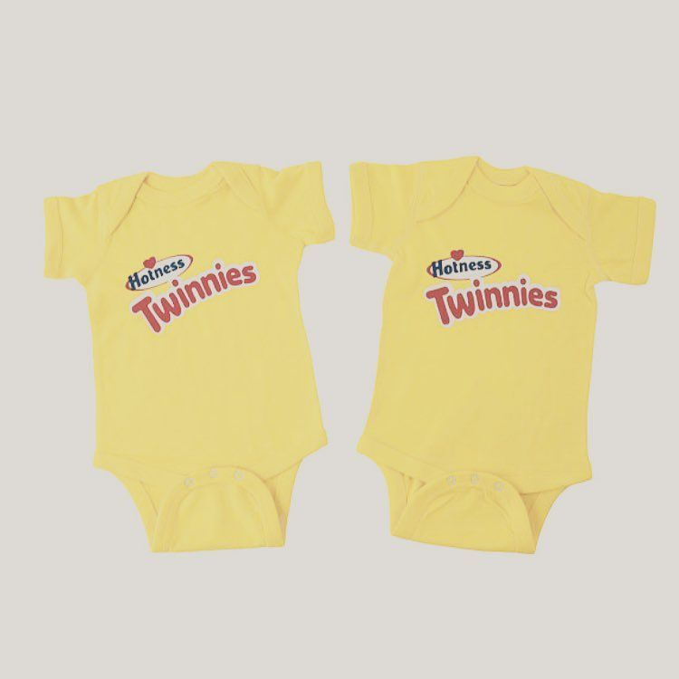 85cb5680a5f5 Twinkie Twins Matching Outfits. Funny Twins Onesies. Twins Birthday Gifts.  Awesome Twin girls