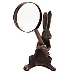 Victorian Trading Co Handy Hare Rabbit Magnifying Glass /& Holder