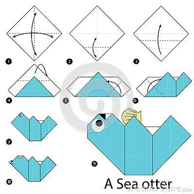 Instrucciones paso a paso cómo hacer papiroflexia una nutria de mar ...