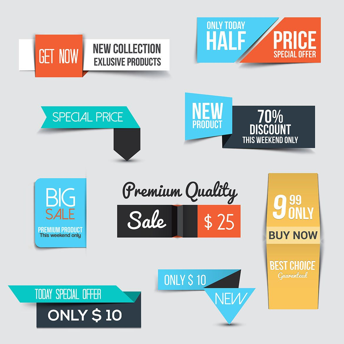 Download Collection of Sale Discount Banners Graphics by