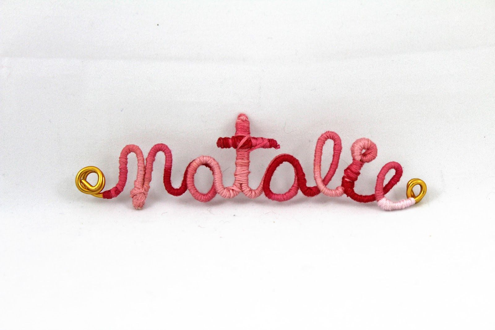 Craft-e-Corner Blog * Celebrate Your Creativity: The Perfect DIY Gift! Wrapped Wire Name Tags.