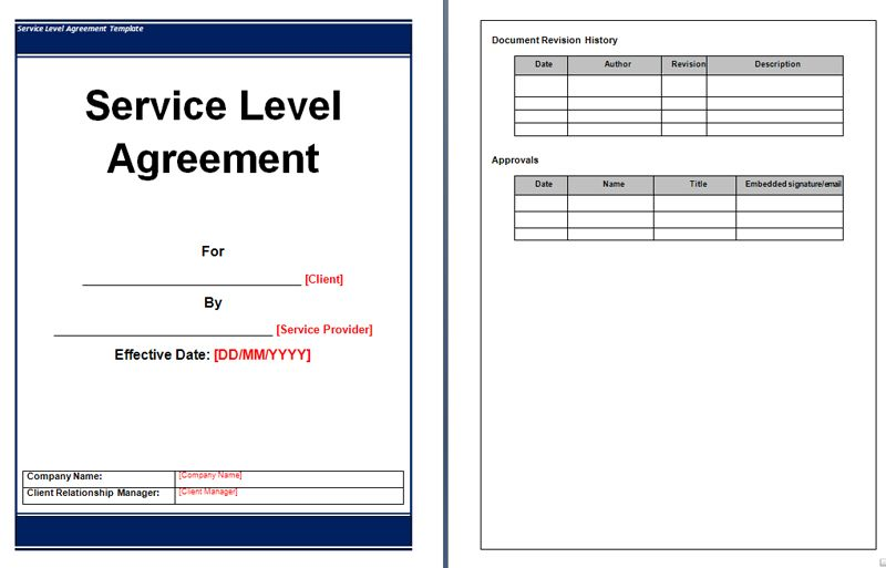 Service Level Agreement Template  Office Templates