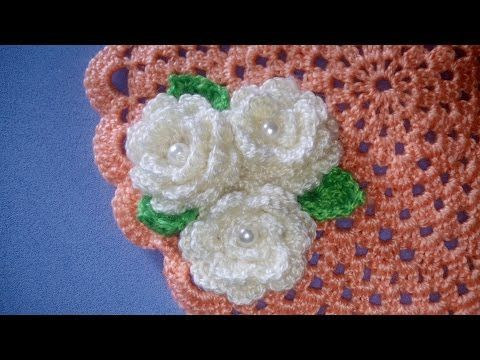 Rosa E Foglia Uncinetto Tutorial Rose Leaf Crochet Rosa Folha